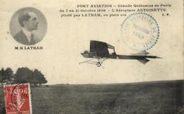 F 0127 - Aviation  Port  Aviation  L'Aeroplane Antoinette  Piloté Par  M. Hubert Latham  En Plein Vol - ....-1914: Précurseurs