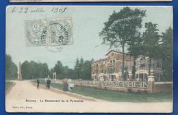 BRUNOY    Restaurant De La Pyramide       Animées   écrite En 1905 - Brunoy