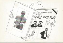 JZ / CPSM Carte Postale CASTORAMA 125 Exemplaires DAMMARIE-LES-LYS HERGE N'est Plus TINTIN  DUBAROFF 1983 - Cartoline Umoristiche