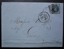 Pau 1869 P.Hilhou Confiserie Et Distillerie  Liqueurs  Pour Lanne Arrondissement  D'Oloron - 1849-1876: Période Classique