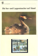 Aland (Finland) 2013 - WWF Die See- Und Lappentaucher Auf Aland - Komplettes Kapitel Postfrisch MK FDC - Unclassified