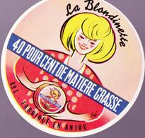 ÉTIQUETTE DE FROMAGE -  FROMAGE LA BLONDINETTE - Cheese