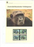 Zentralafrikanische Republik  2012 - WWF Zentralafrikanischer Schimpanse - Komplettes Kapitel Postfrisch MK FDC - Unclassified