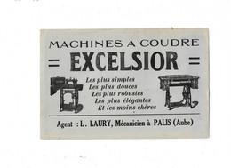 Buvard Ancien Machine à Coudre Excelxior - M