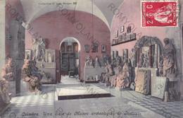 CARTOLINA  COIMBRA,PORTOGALLO,UMA SALA DO MUZEU ARCHEOLOGICO DO INSTITUTO,VIAGGIATA 1913 - Coimbra