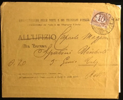 1915 P.T.   SEGNATASSE 10 CENT P.M.  X RODI - Marcofilie