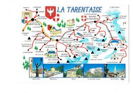 Cpm - 73- La Tarentaise Illustration Carte Géographique Monument Albertville Moutiers Aime - Other Municipalities