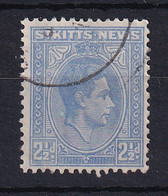 St Kitts-Nevis: 1938/50   KGVI    SG72    2½d   Ultramarine   Used - St.Cristopher-Nevis & Anguilla (...-1980)
