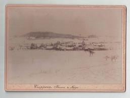 Fribourg Suisse Vuippens Brume Et Neige ( ~18 X 13 Cm) - Oud (voor 1900)