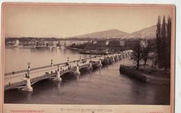 Genève Suisse - Genève Et Le Pont Du Mont Blanc - Charnaux Frères Maison Des Trois Rois   ( ~16 X 10 Cm) - Oud (voor 1900)