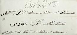 1841 Portugal Pré-Filatelia Caldas Da Rainha CLD 2 «CALDAS» Sépia Escuro - ...-1853 Vorphilatelie