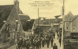 MORET SUR LOING CONCOURS DE PECHE DU 21 JULLET 1912 LE DEFILE SUR LE PONT REPRODUCTION - Moret Sur Loing