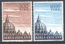 Vaticano 1953 Cupola I Sass. A22/3 **/MNH VF/F - Airmail
