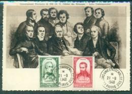 CM-Carte Maximum Card #1948-France (Yvert.N° 795,800)  Révolution Francaise De  1848 -LAMARTINE,BLANQUI, Paris - 1940-49