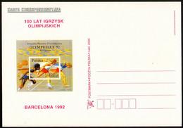 Poland Postcard 100 Years Of The Olympic Games ''BARCELONA'1992'' - Verano 1992: Barcelona