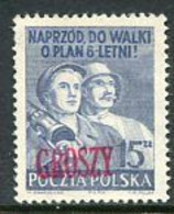 POLAND 1950 Currency Reform Handstamp On Six Year Plan, MNH / **.  Michel 665 - Nuevos