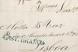 1844 Portugal Pré-Filatelia Castelo Branco CTB 1 «CASTº BRANCO» Azul - ...-1853 Vorphilatelie