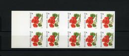 België Boekje B32 ON - Bloemen - Pelargonium - Fleurs - (2850) - André Buzin - SUP - Ongetande