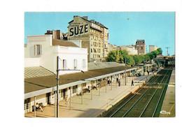 Cpm - 95 - Enghien Les Bains - La Gare - Publicité Suze, Apéritif - Chemin De Fer - 1981 - Cim E 95210...0027 - Enghien Les Bains