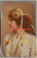 Colored Postcard Art Biogravure Portrait Profile Young Woman - Women