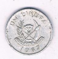 1 LIKUTA  1967 CONGO /5874/ - Congo (Republic 1960)
