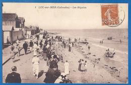 LOT DE 9 CP - CALVADOS - LUC SUR MER - Petites Cartes Avec Quelques Belles Animations - 14/19 - Luc Sur Mer