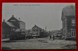 CPA 193? Graide, Bièvre Vue De La Gare- Tram Allant Vers Wellin/ Edit. Vve Bertholet - Hôtel Du Commerce - Bievre