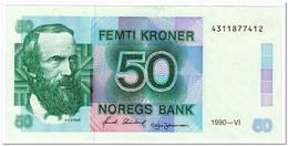 NORWAY,50 KRONER,1990,P.42e,XF-AU - Norway