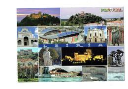 Cpm - Portugal - Leiria - Multivues - Stade Football - Leiria