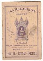 NANTES PUBLICITE ILLUSTREE A LA RELIGIEUSE R BROCHARD MAISON DE CONFIANCE CODE DEUIL CONFECTION CHALES CHAPEAU CORSAGE - Pubblicitari