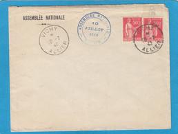 SENAT,ASSEMBLEE NATIONALE,VICHY. 10 JUILLET 1940. - Cartas