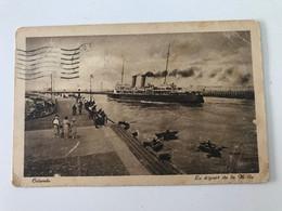 Carte Postale Ancienne (1922) OSTENDE Le Départ De La Malle - Oostende