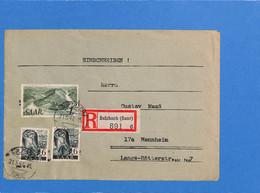 Saar 1947 Lettre De Sulzbach (G2639) - Brieven En Documenten