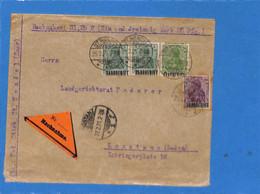 Saar 1921 Lettre De St.Wendel (G2642) - Brieven En Documenten