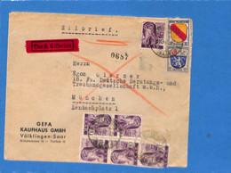 Saar 1947 Lettre De Völklingen (G2646) - Brieven En Documenten