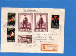 Saar 1953 Lettre De Saarbrücken  à L'Autriche  (G2649) - Brieven En Documenten