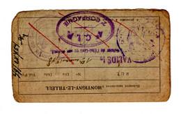 Carte Militaire Avec Cachets 1948 - 1949 - Montigny-le-Tilleul - Seals Of Generality