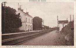 37 - Fondettes Saint Cyr - Environs De Tours - La Gare - CPSM Au Format 9x14 écrite - Altri Comuni