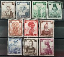 ALLEMAGNE - 1935 - Série N° 547/556 * (voir Scan) - Nuovi