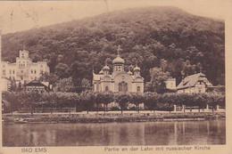 4812385Bad Ems, Partie An Der Lahn Mit Russischer Kirche. – 1925. (sehe Ecken, Und Kanten) - Bad Ems