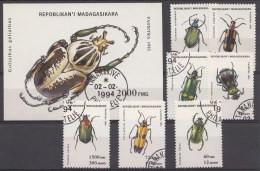 Animaux Madagaskar Serie+blok 1993 Oblitérés / Used / Gestempeld - Andere