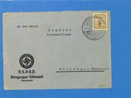 Allemagne Reich 1942  Lettre De  Schonach (G2514) - Lettere