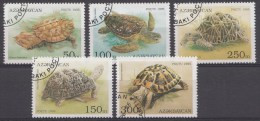 Azerbadjan 1995  Oblitérés / Used / Gestempeld - Schildpadden