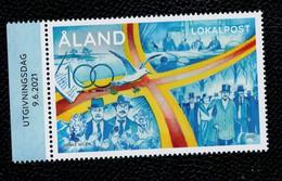 Aland 2021  100 ° Anniv. Aland 1v Complete Set  ** MNH - Aland