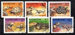 Kasachstan 1994 Mi.nr: 51-56 Reptillien  Oblitérés / Used / Gestempeld - Andere