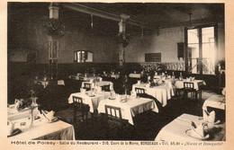 33. CPA.  - BORDEAUX - Salle De Restaurant De L'Hotel De Poissy - 210 Cours De La Marne -  Noces Et Banquets - - Ristoranti