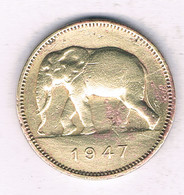2 FRANC 1947  BELGISCH CONGO /5895/ - 1945-1951: Régence