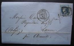 Bayonne 1869 Lettre Pour Jean Curutchet à Lanne Près Aramits, Lettre De Son Cousin - 1849-1876: Période Classique