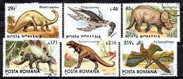 Rumänien 1993 Mi.nr: 4911-4916 Prähistorische Tiere  Oblitérés / Used / Gestempeld - Prehistorisch