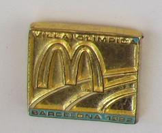 1 Pins MCDO - VILLA OLIMPICA BARCELONA 1992 (Etat Moyen) - McDonald's